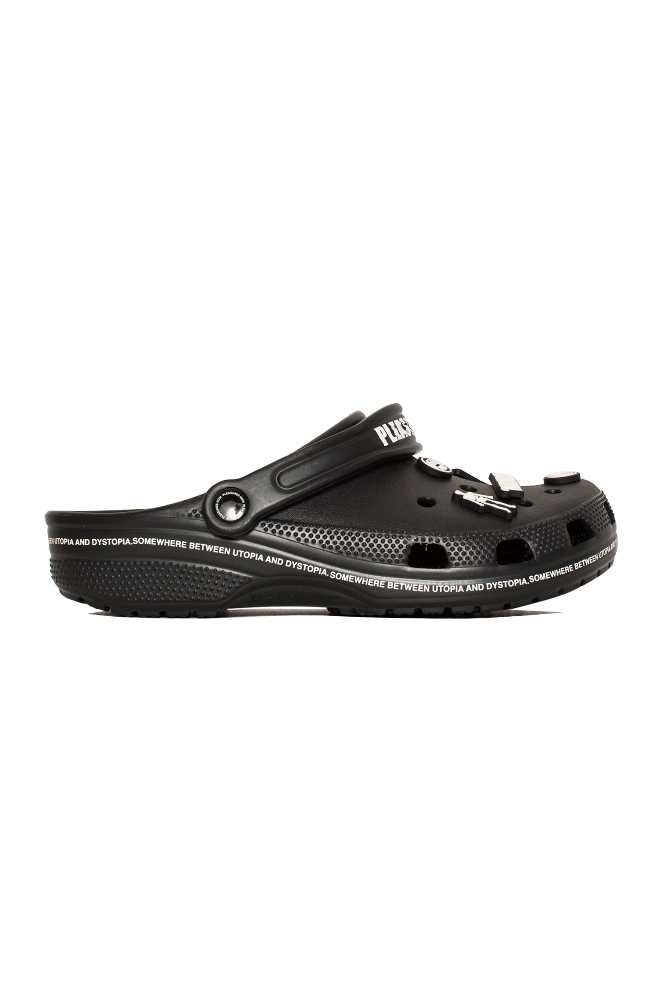 Utopia Crocs by Pleasures Nero