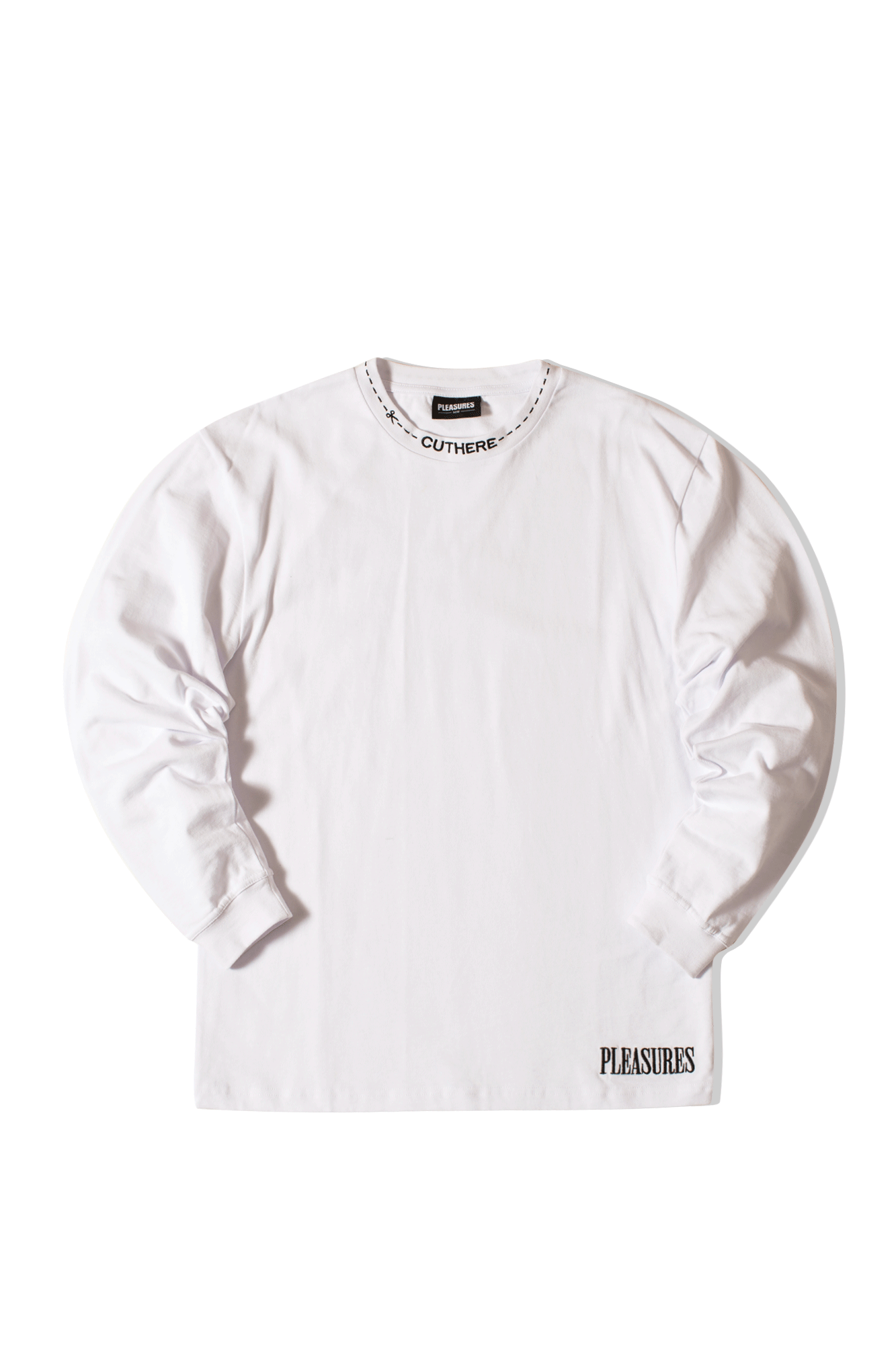 Cut Here Heavyweight L/S Shirt Bianco