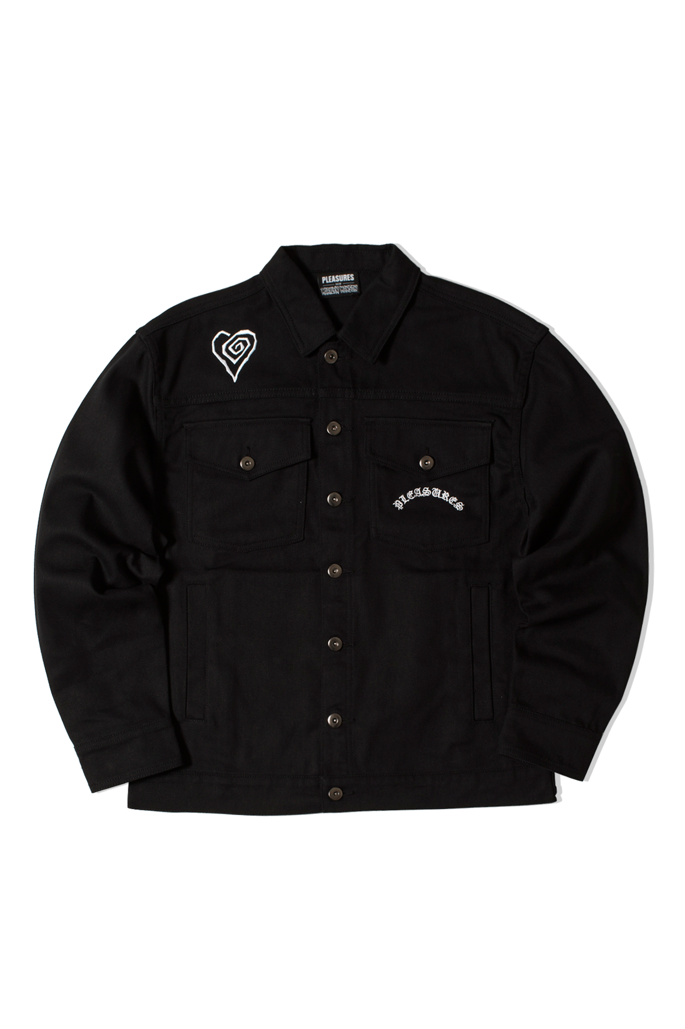 Trucker Jacket x Marilyn Manson Nero