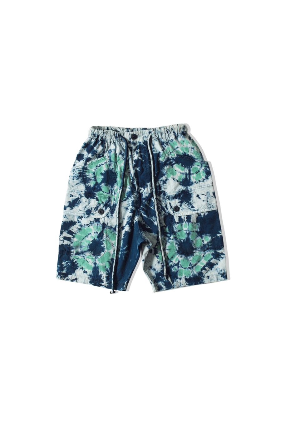 Dr. Collectors Pantaloni corti Short Shibori Blu P30SHORTS#HIBORI#BLUE#M - One Block Down