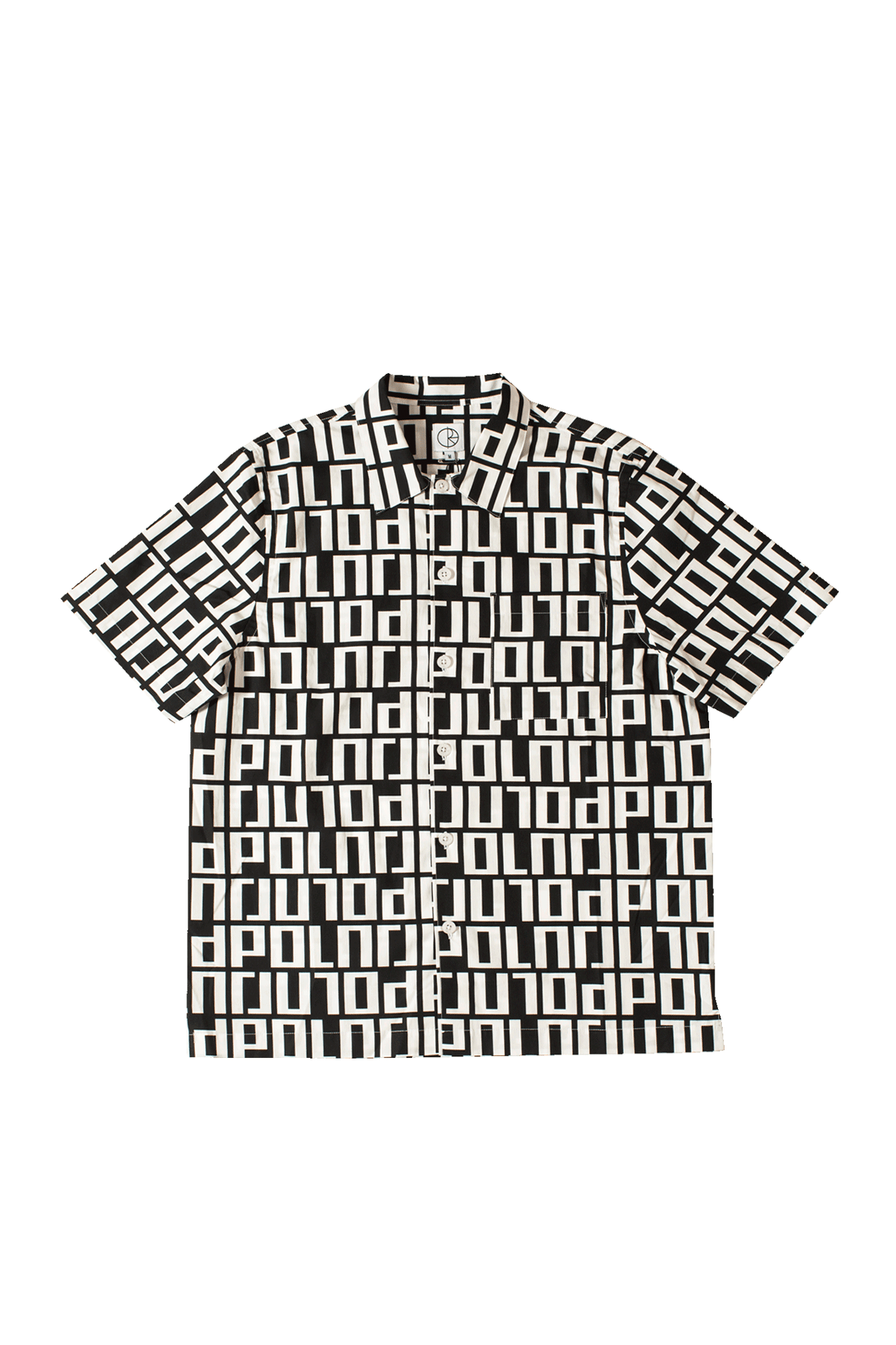 Square Logo Shirt Nero