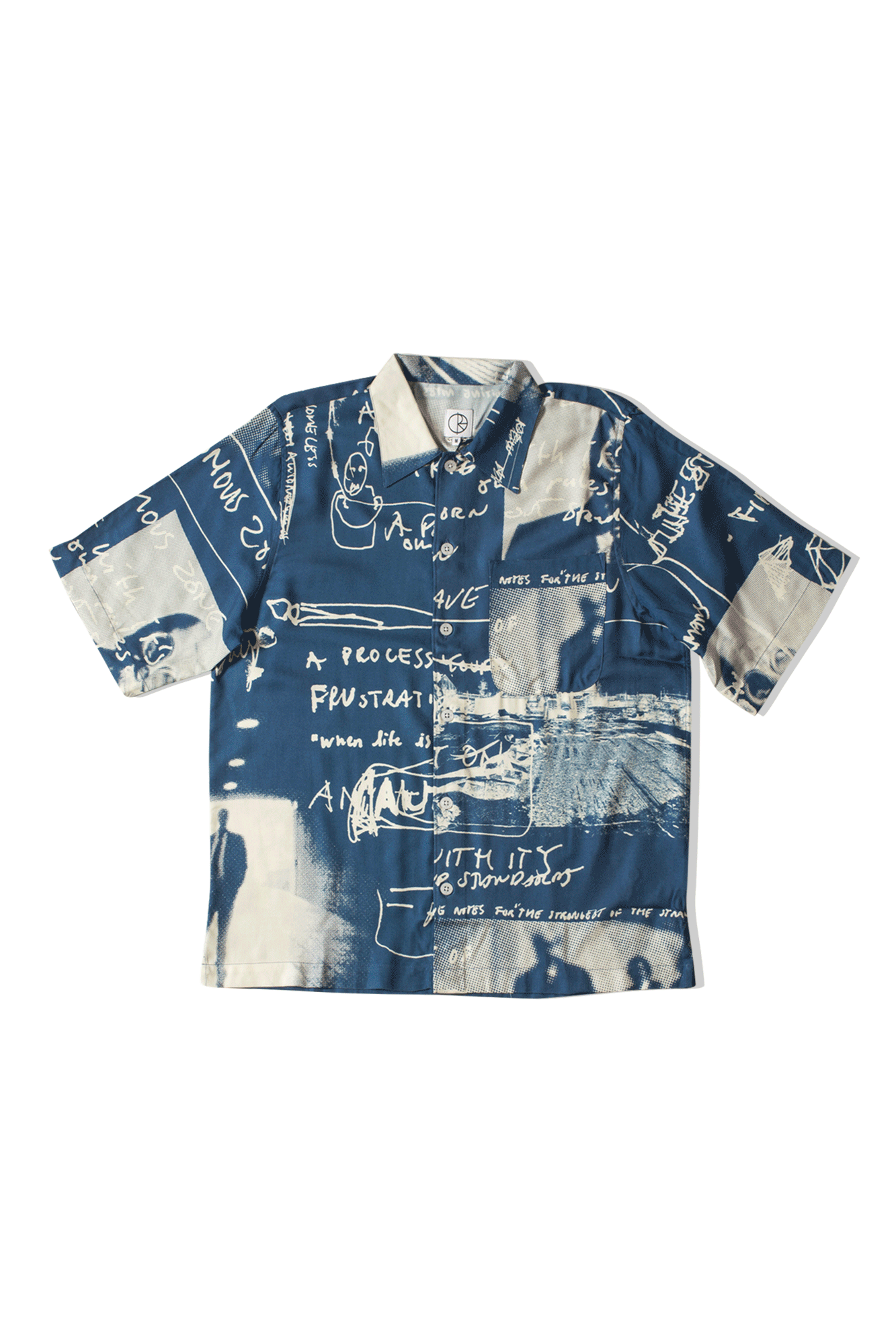 Polar Camicie Art Shirt ''Strongest Notes'' Blu POL- ARTSH#STRONG#BLUE#S - One Block Down