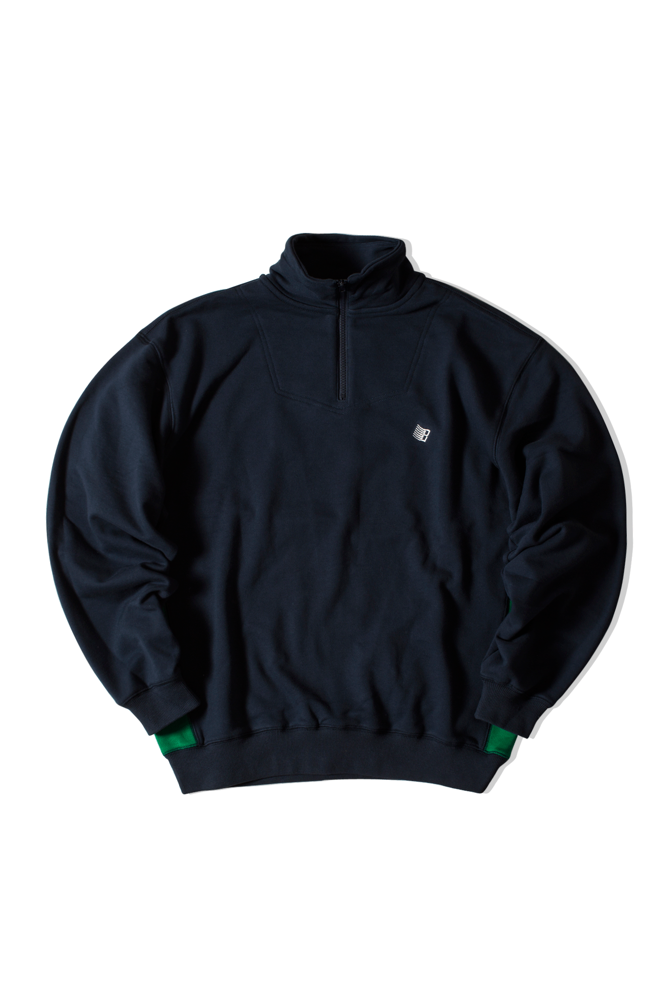 Quarter Zip-up sweatshirt Blu