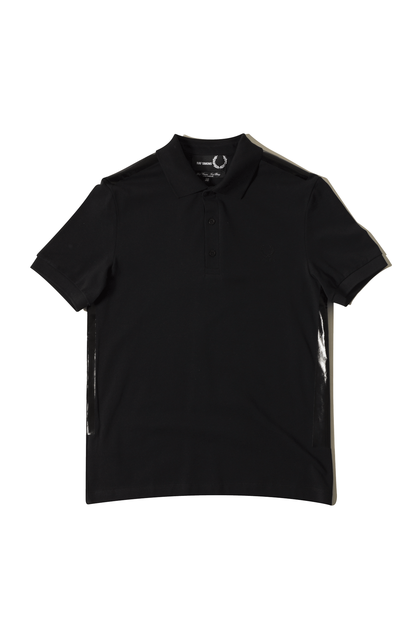 Fred Perry X Raf Simons Camicie Raf Simons Tape Detail Pk Shirt Nero SM3082#000#102#40 - One Block Down