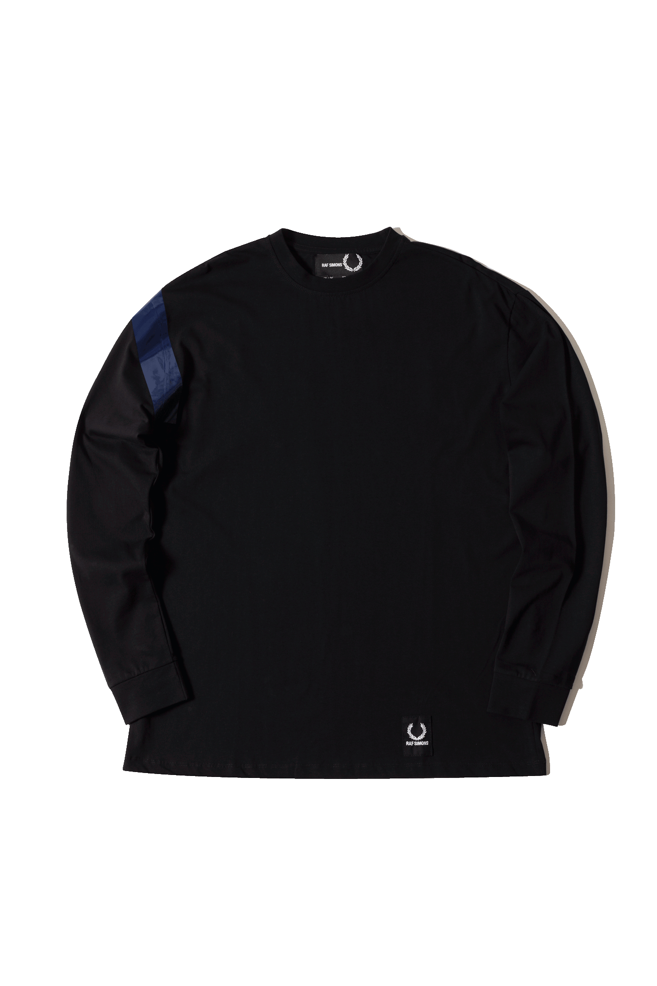 Raf Simons Tape Detail Long Sleeve T-Shirt Nero