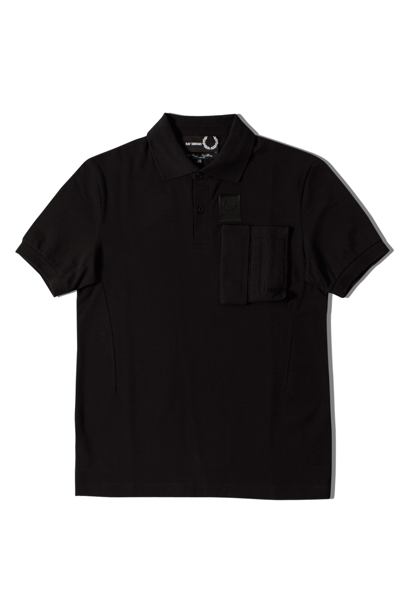 Fred Perry X Raf Simons Camicie Pocket Pique Shirt Nero SM5131#000#102#42 - One Block Down
