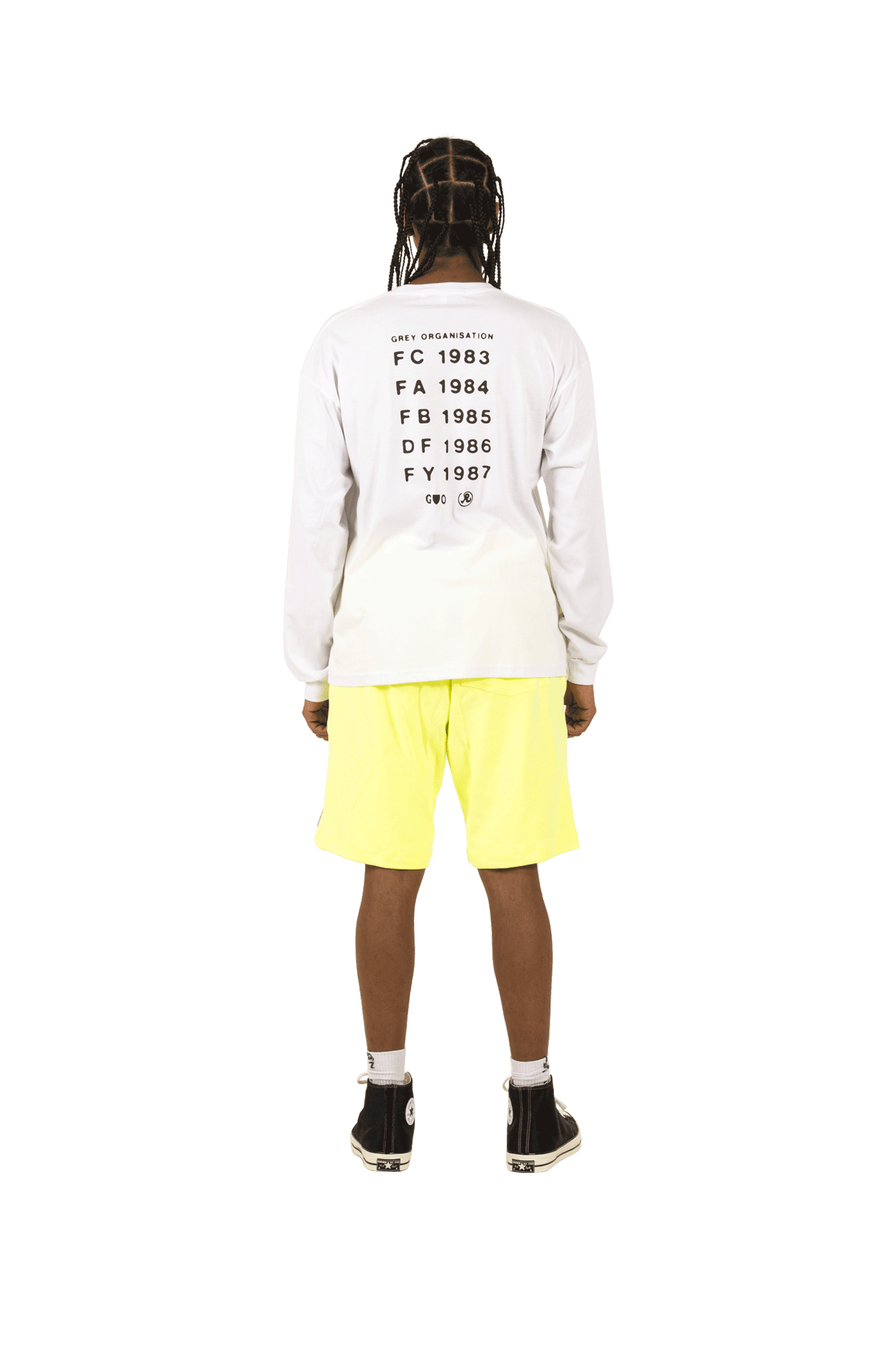 Richardson Mag Magliette a manica lunga Grey Organization Longsleeve Bianco SS19045WHT#000#WHITE#M - One Block Down