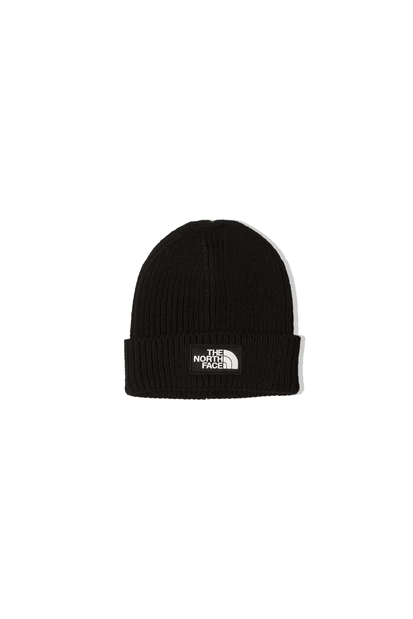 TNF Logo Box Cuffed Beanie Nero