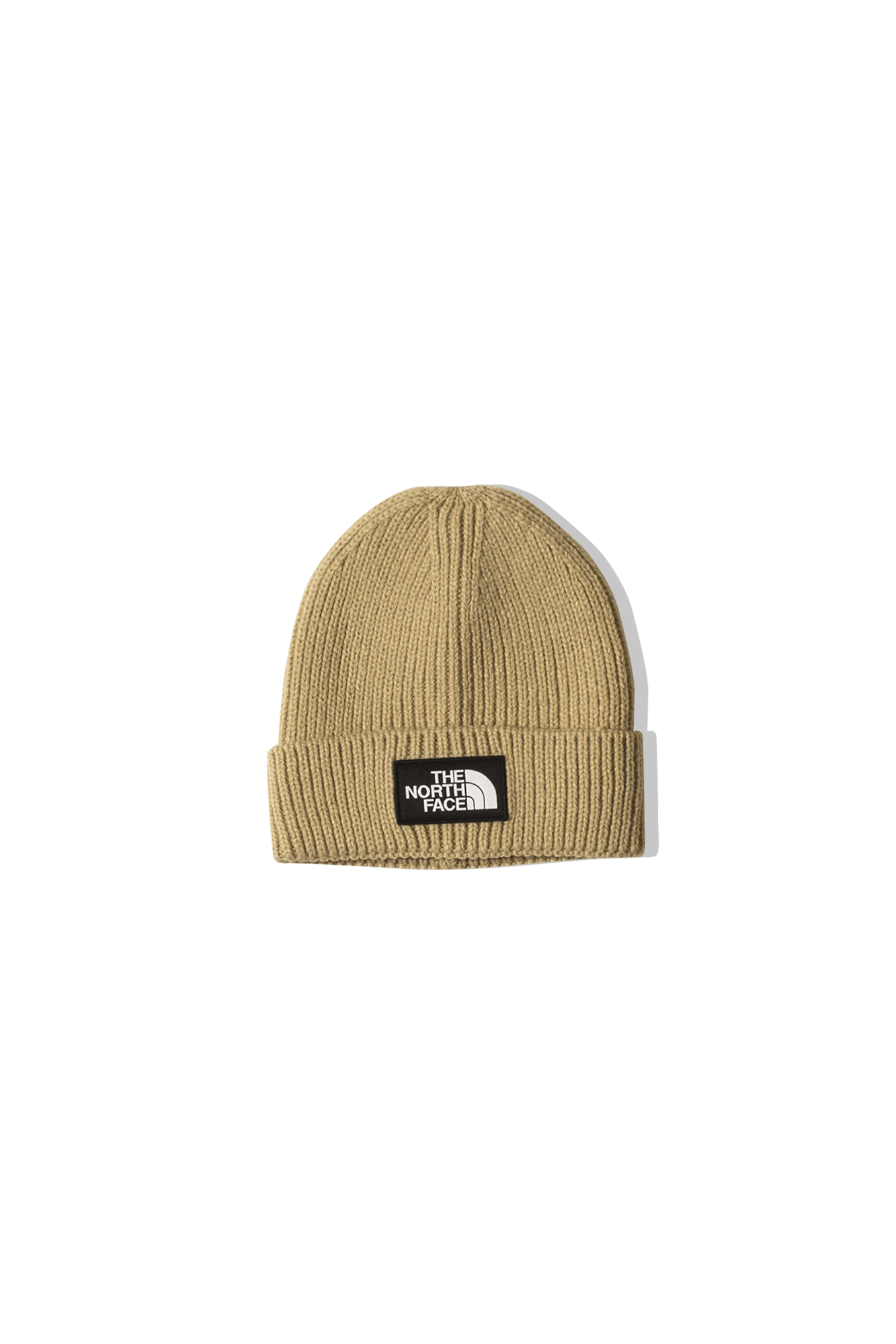 TNF Logo Box Cuffed Beanie Marrone