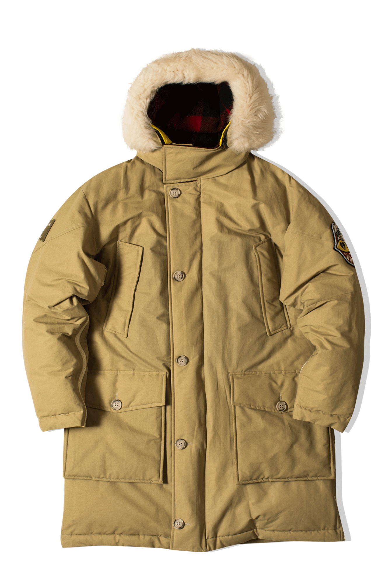 Bearskin Reversible Parka Marrone