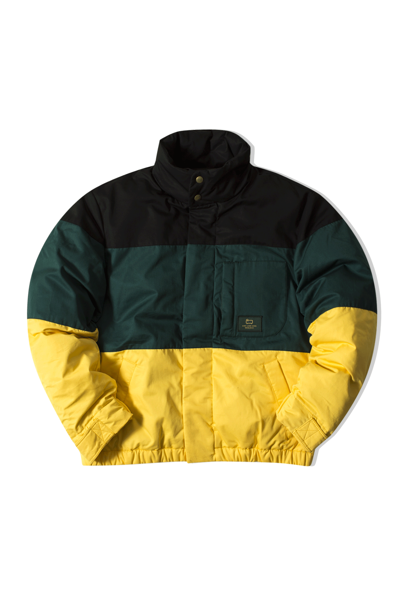 Colorblock Down Jacket Nero