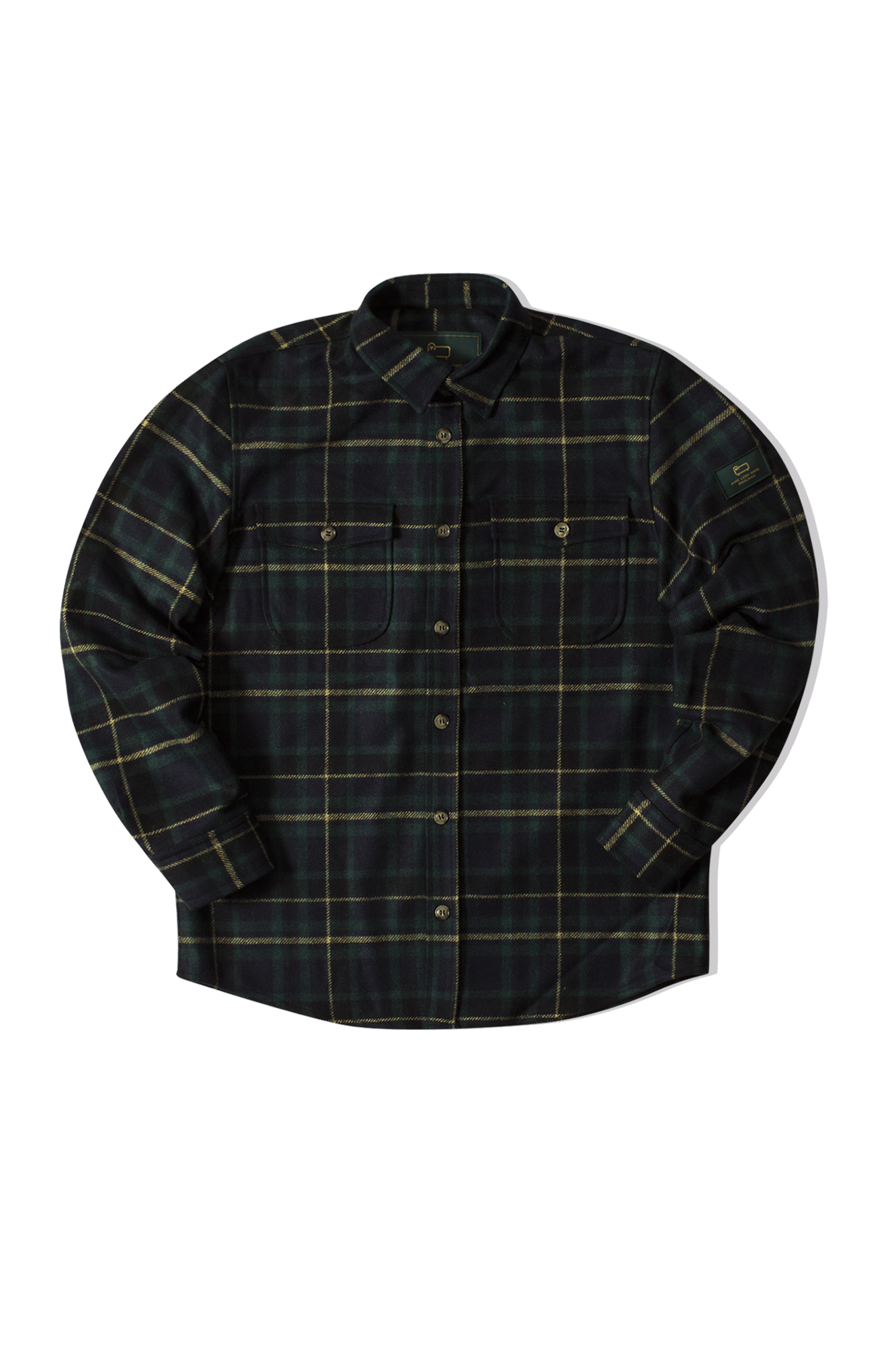 Plaid Button Shirt Verde