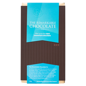 70% Cacao Fine Dark | Remarkable Chocolate | New Zealand Chocolate Bar