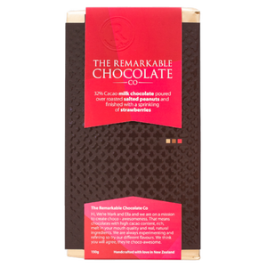 32% Milk Chocolate | Peanut & Strawberry | Remarkable Chocolate NZ