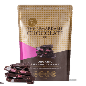 Organic Chocolate Barks | Marshmallow, Coconut & Raspberry | Remarkable Chocolate