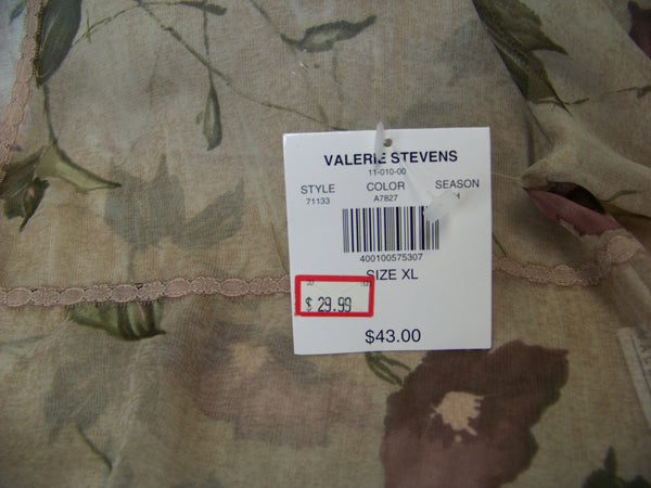 new Valerie Stevens ladies tan sheer cover-up