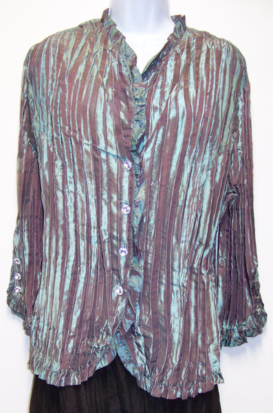 new MSK Women ladies teal colored blouse