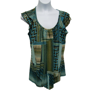 new ladies green summer top
