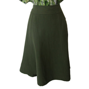 new ladies A-line green skirt