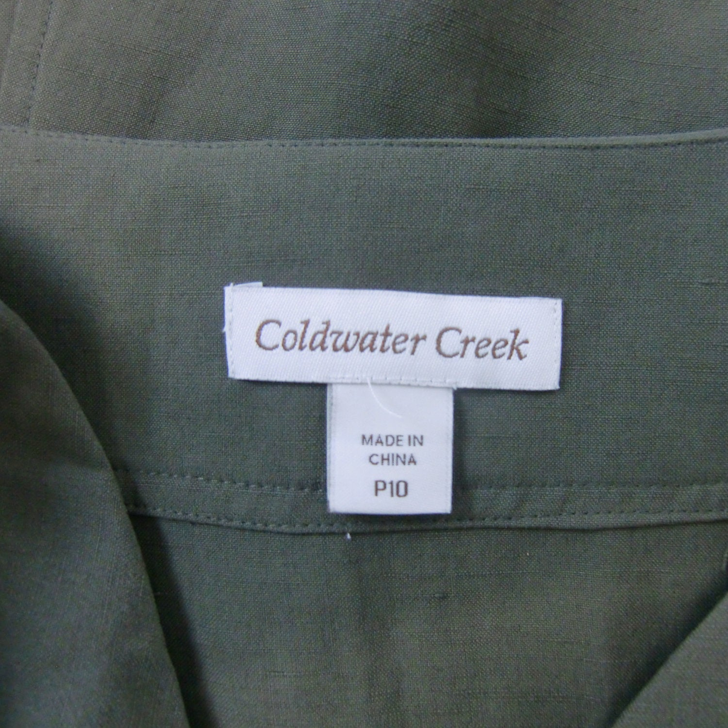 new ladies Coldwater Creek A-line green skirt