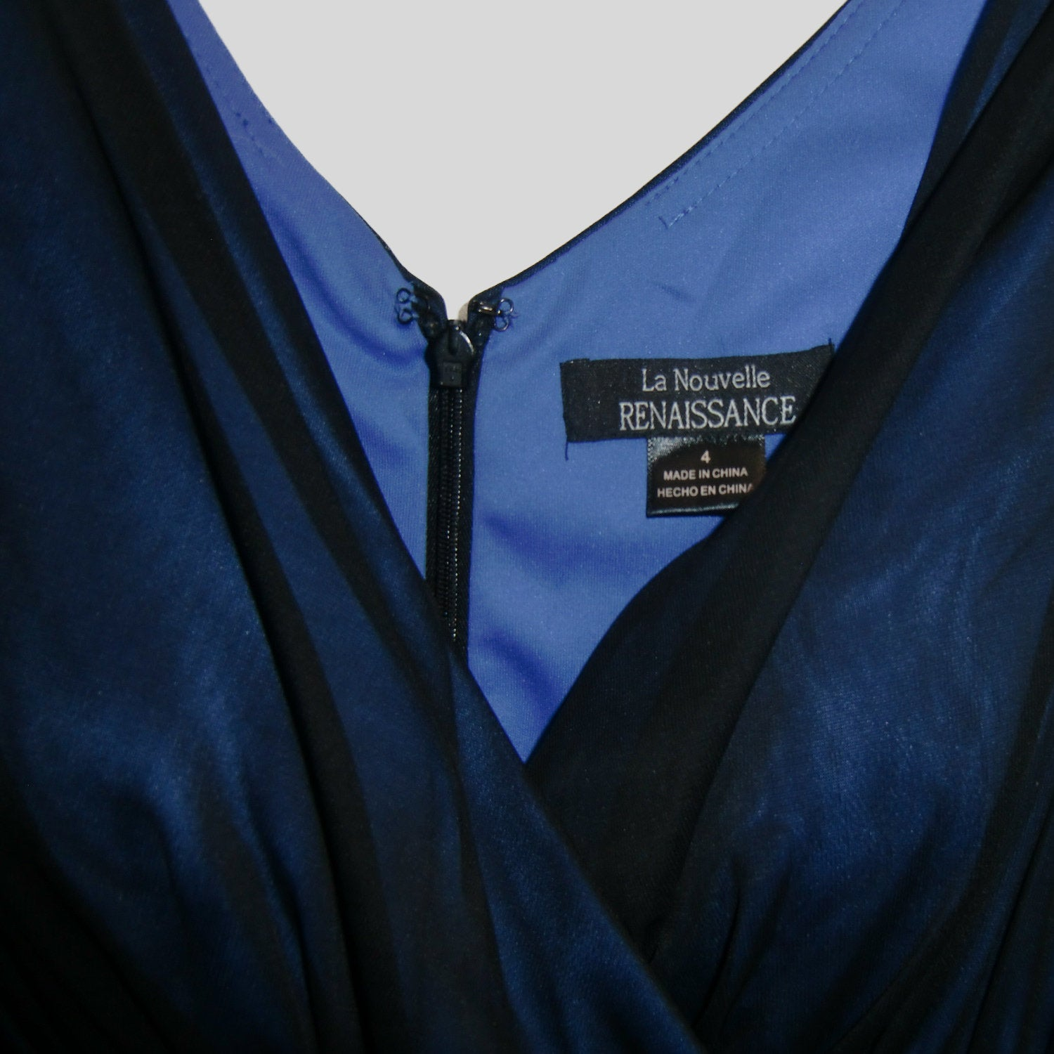 used La Nouvelle RENAISSANCE ladies blue evening dress