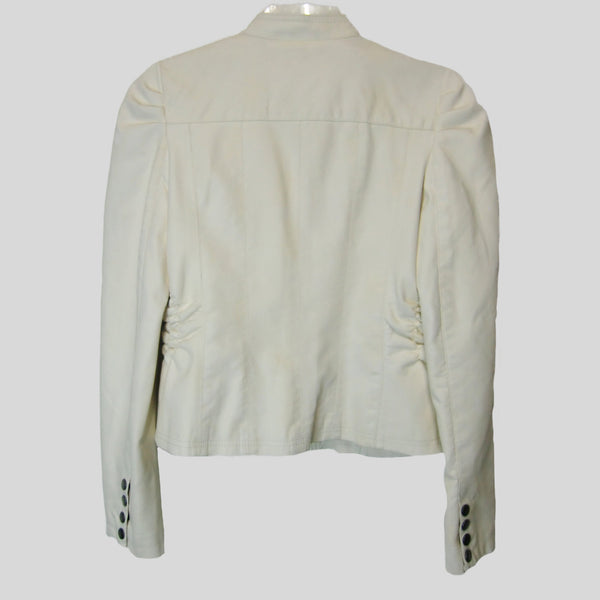 used New Look ladies off-white leather look jacket