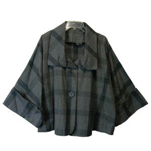 new Anna ladies gray plaid jacket