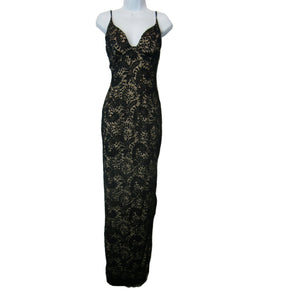 used Windsor ladies black lace evening gown