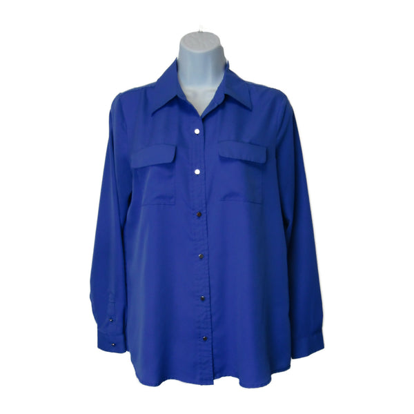 used Liz Claiborne ladies blue blouse