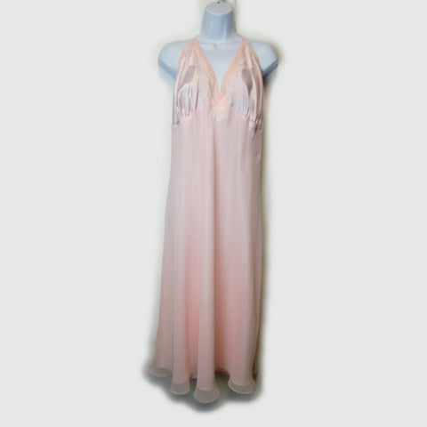 used Valerie Stevens ladies pink lingerie nightgown