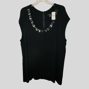 new Lane Bryant ladies black sleeveless top
