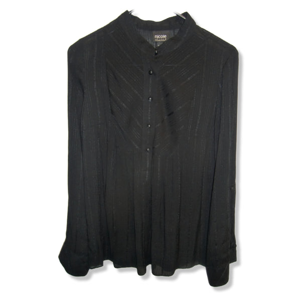 used Nicole Miller ladies black blouse