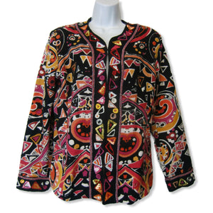 new Chico's ladies multicolor print jacket