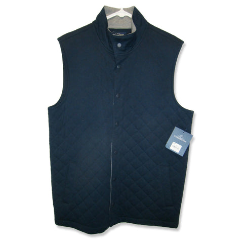 new Croft & Barrow ladies quilted navy blue vest