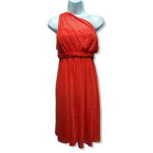 new David's Bridal ladies guava evening dress