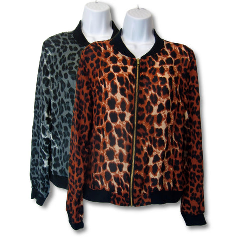 new Day & Night ladies leopard print jacket, black, tan, gray