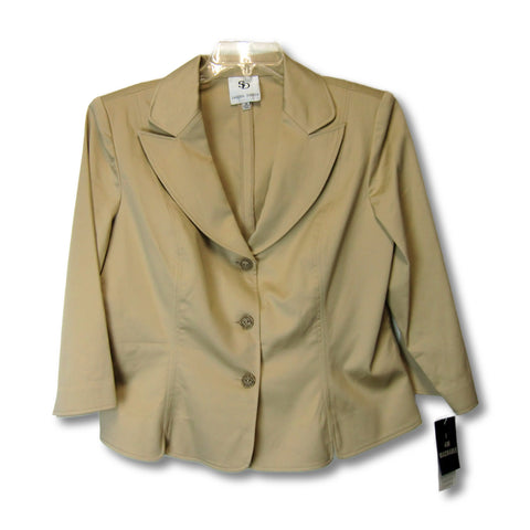 new Sandra Darren ladies tan suit jacket