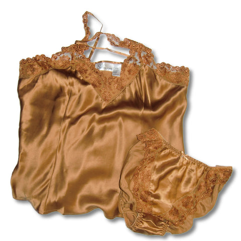 used Silkscreen ladies brown babydoll PJs