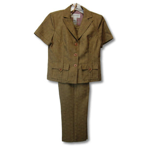 used Sag Harbor ladies 2-piece brown pant set