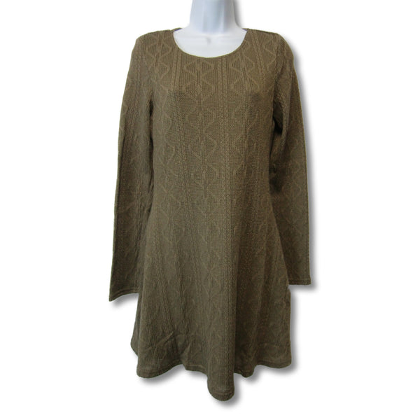 new Loveriche ladies brown long-sleeved, knit dress