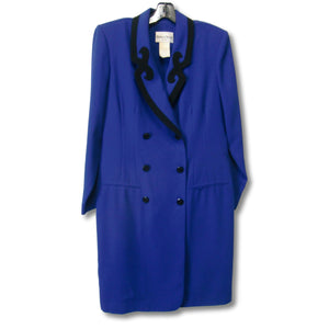 used Danny & Nicole ladies blue dress coat