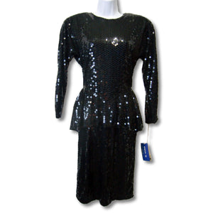 used SweeLo ladies vintage black sequin dress