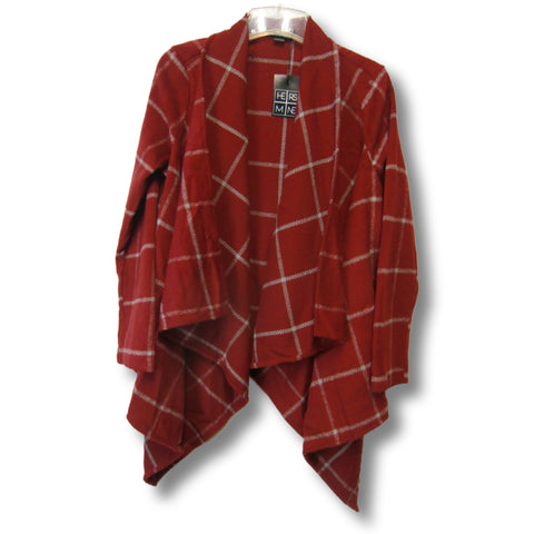 new Hers & Mine ladies red poncho-style coat