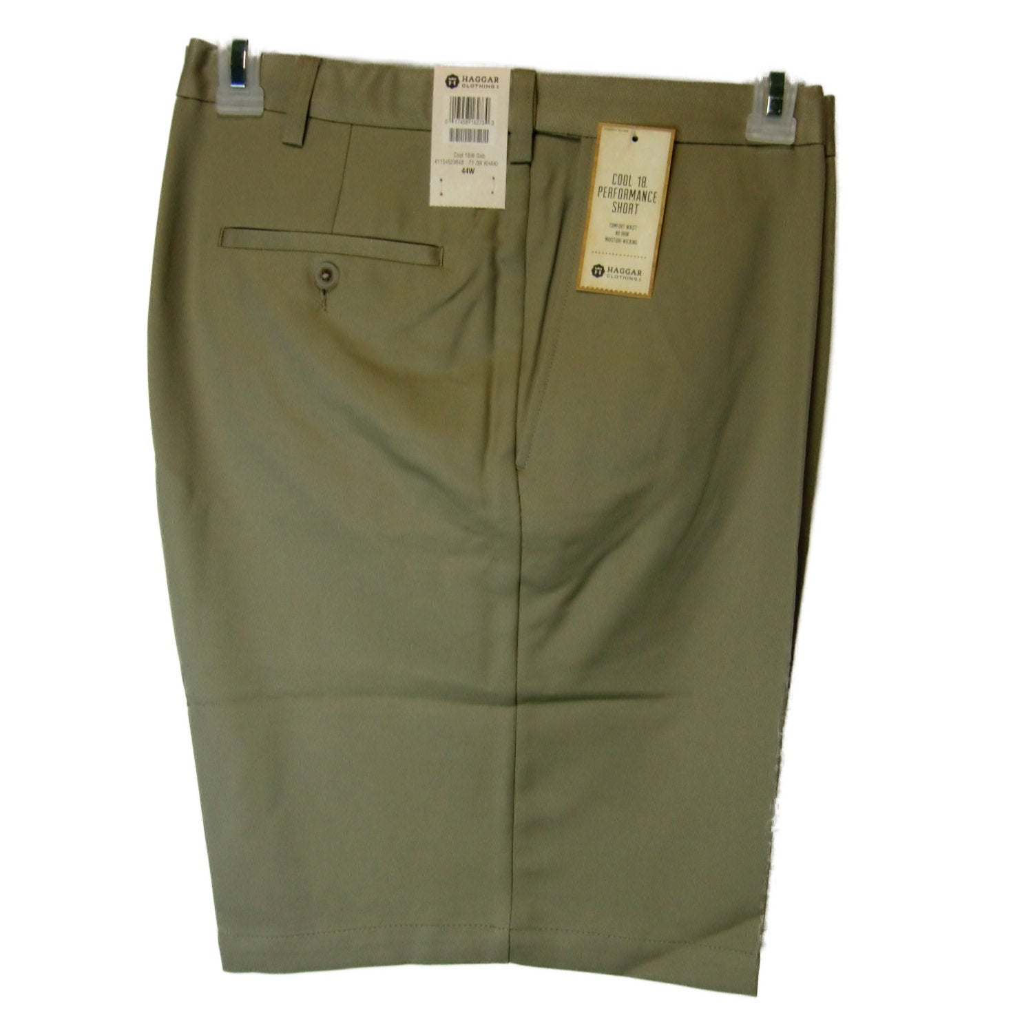 new Haggar man's tan shorts