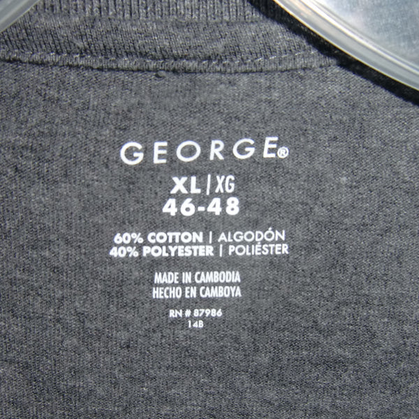 used George man's gray polo shirt