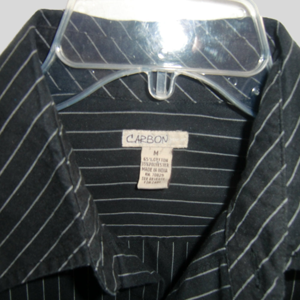 used Carbon man's black pinstripe shirt