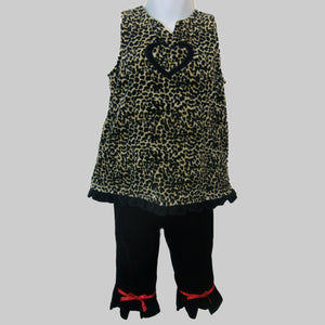used baby girls leopard set