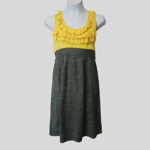 used Jodi Kristopher girls yellow and gray dress