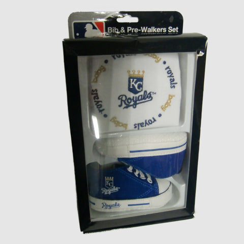 new Baby Fantastic KC Royals bib and shoe set