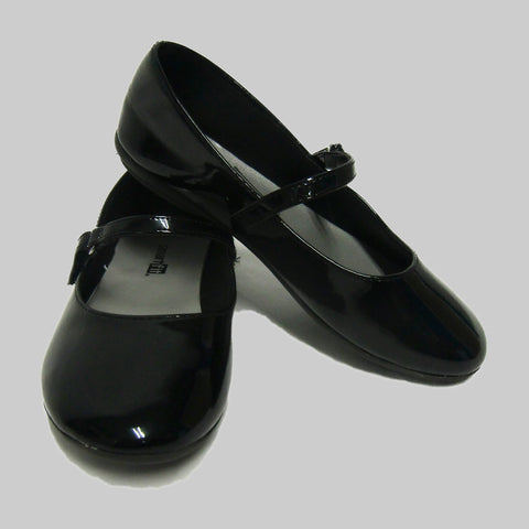 used girls black dress shoes
